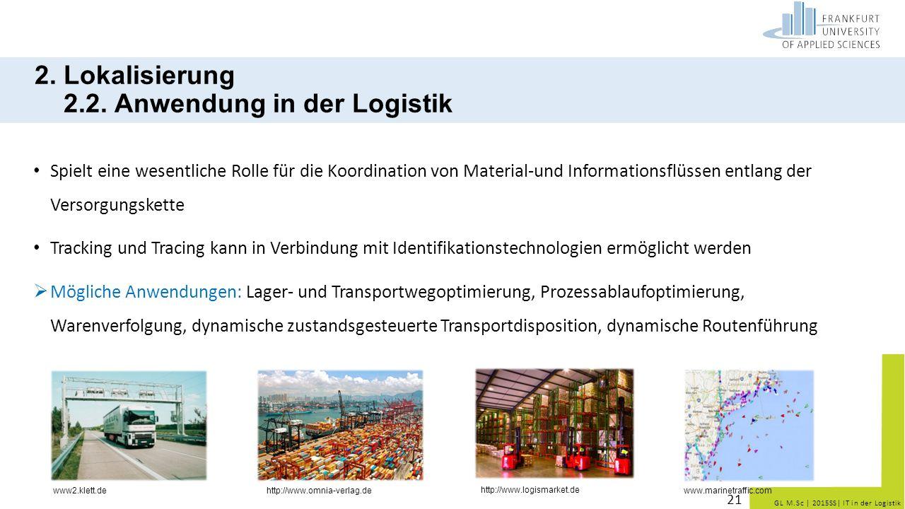 2. Lokalisierung 2.2. Anwendung in der Logistik
