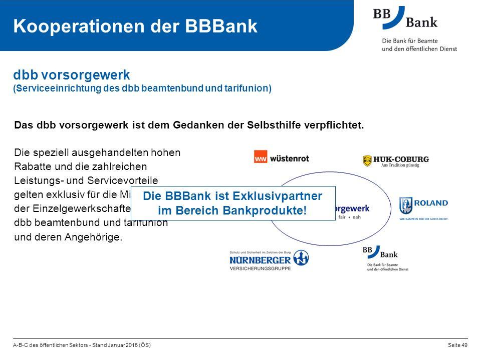 Die BBBank ist Exklusivpartner im Bereich Bankprodukte!