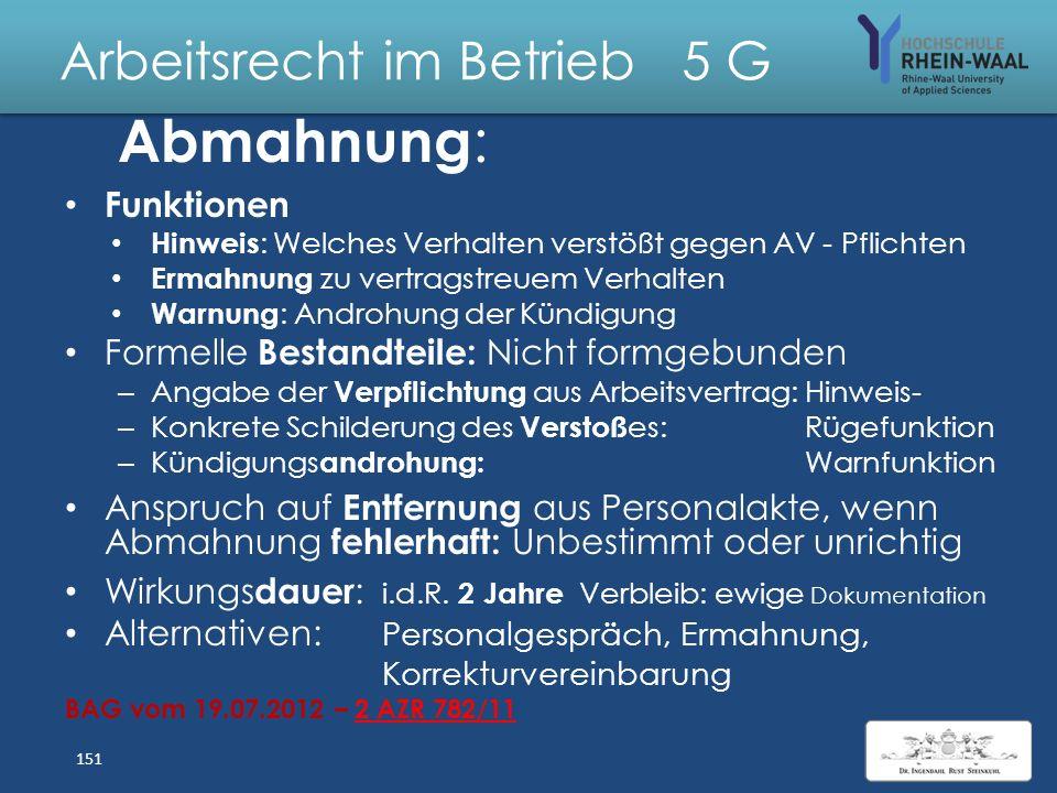 Arbeitsrecht im Betrieb 5 G