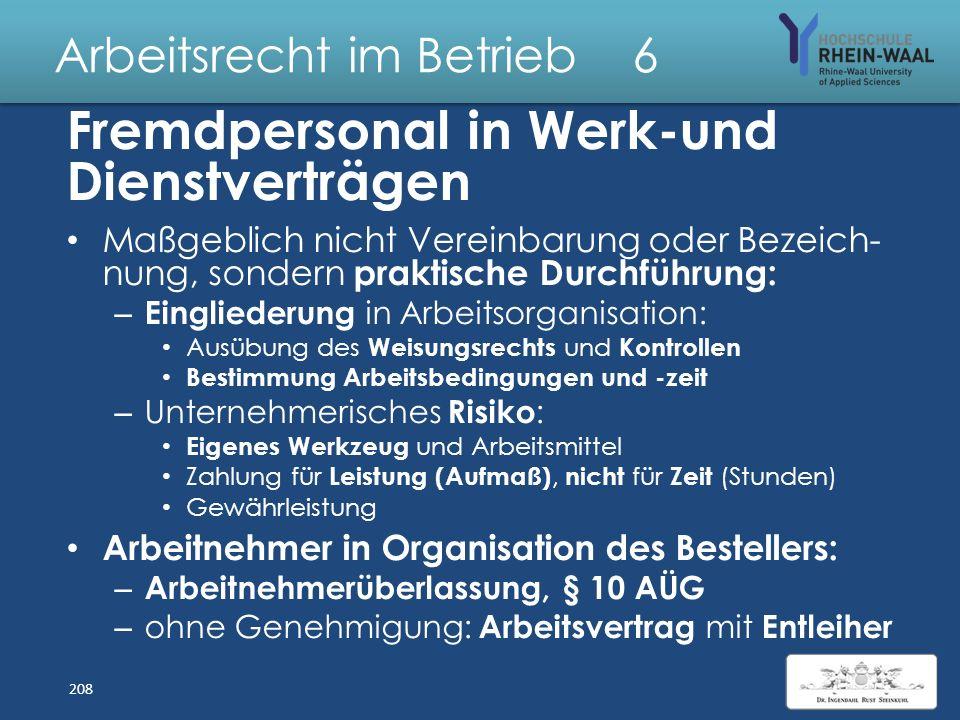 Arbeitsrecht im Betrieb 6