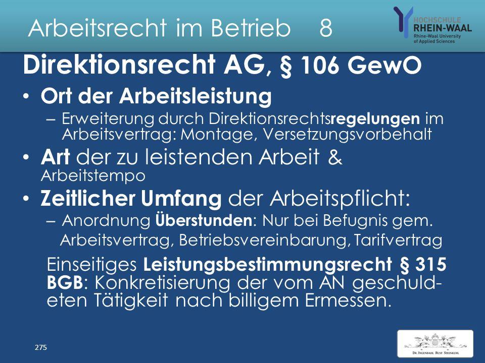 Arbeitsrecht im Betrieb 8