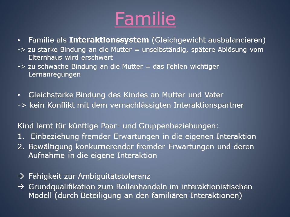 Familie Familie als Interaktionssystem (Gleichgewicht ausbalancieren)