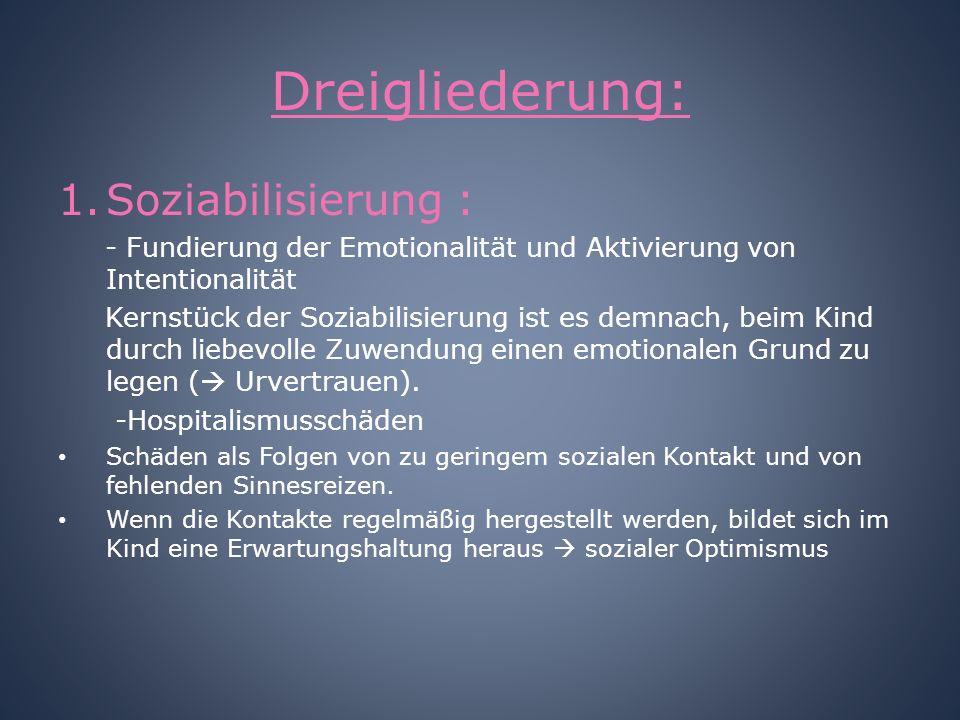 Dreigliederung: Soziabilisierung :