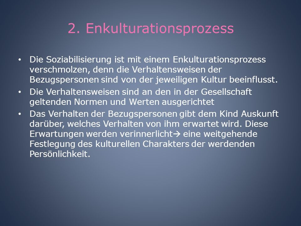 2. Enkulturationsprozess
