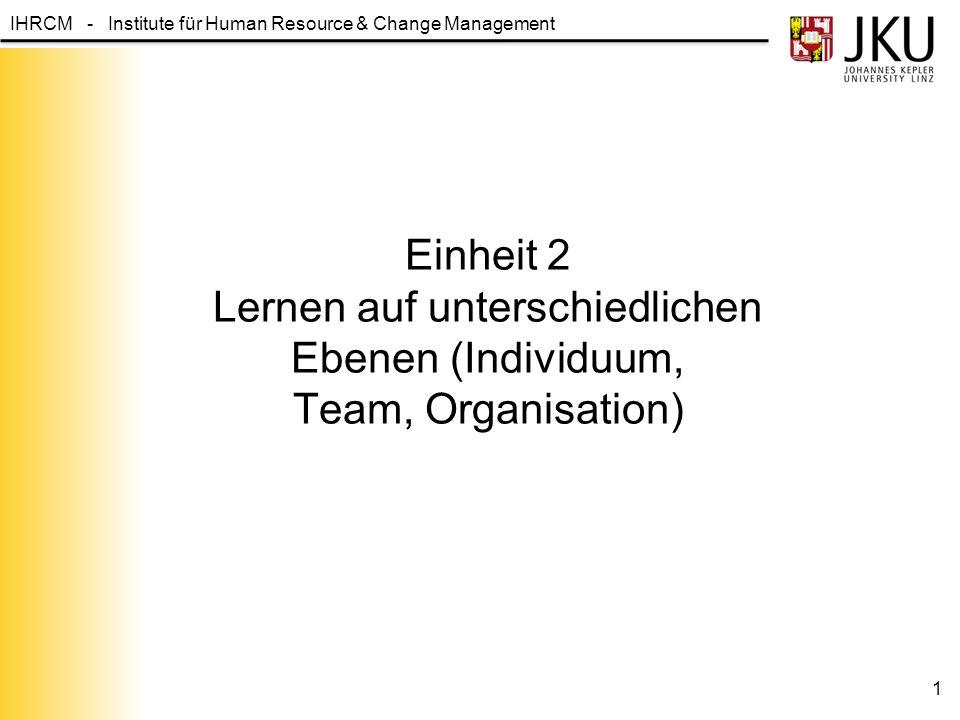Einheit 2 Lernen auf unterschiedlichen Ebenen (Individuum, Team, Organisation)