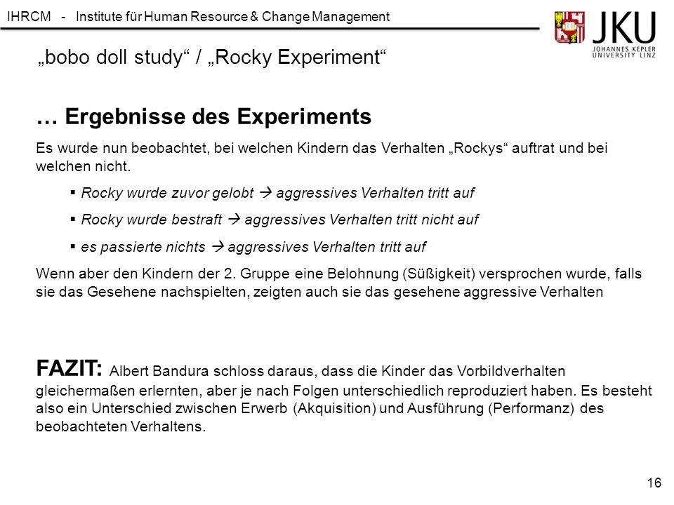 """bobo doll study / ""Rocky Experiment"
