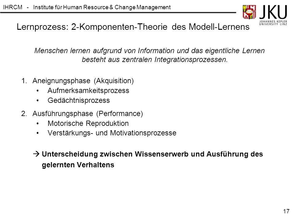 Lernprozess: 2-Komponenten-Theorie des Modell-Lernens