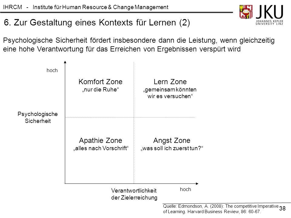 6. Zur Gestaltung eines Kontexts für Lernen (2)