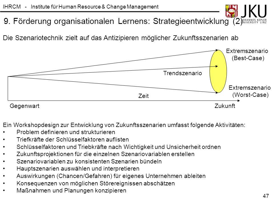 9. Förderung organisationalen Lernens: Strategieentwicklung (2)