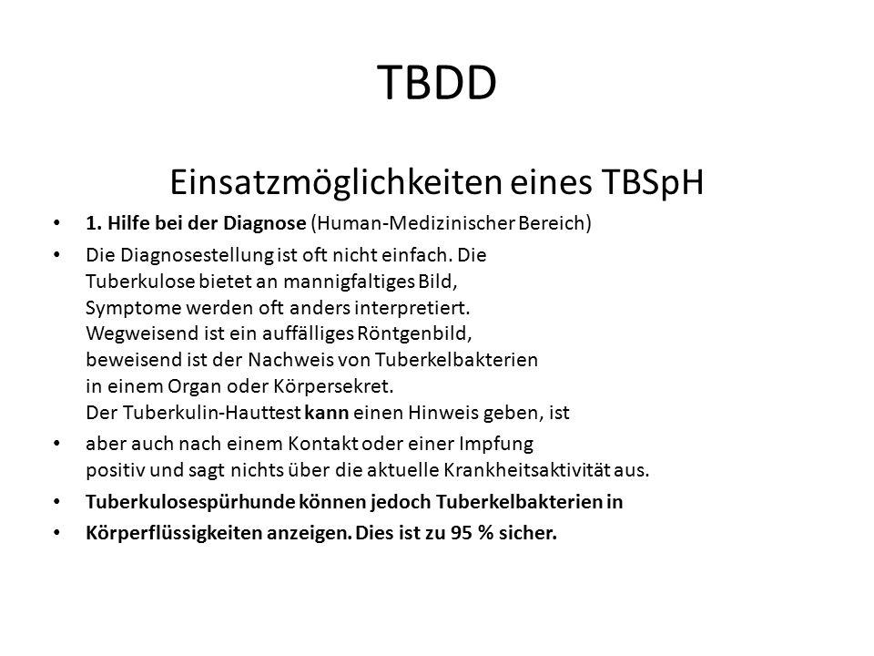Einsatzmöglichkeiten eines TBSpH