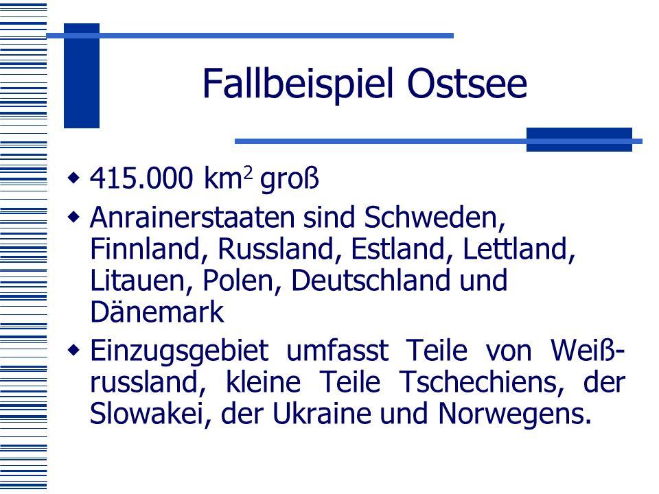 Fallbeispiel Ostsee 415.000 km2 groß