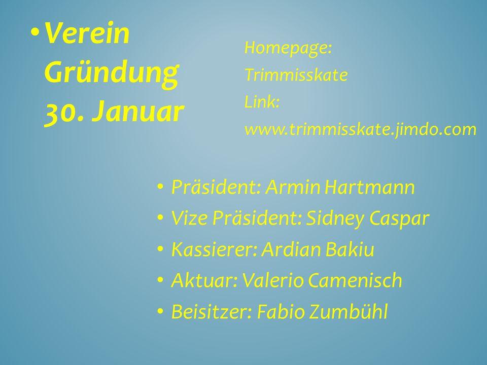 Verein Gründung 30. Januar