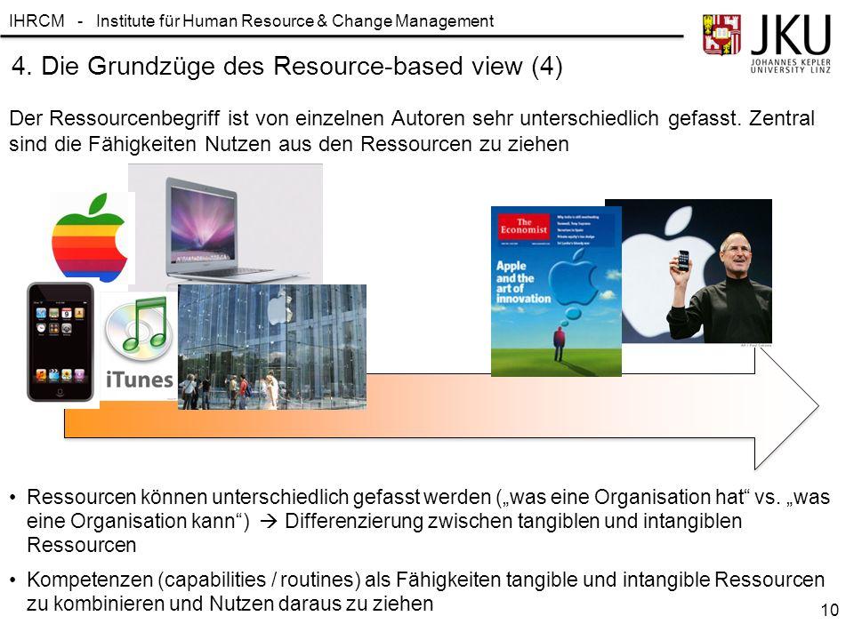 4. Die Grundzüge des Resource-based view (4)