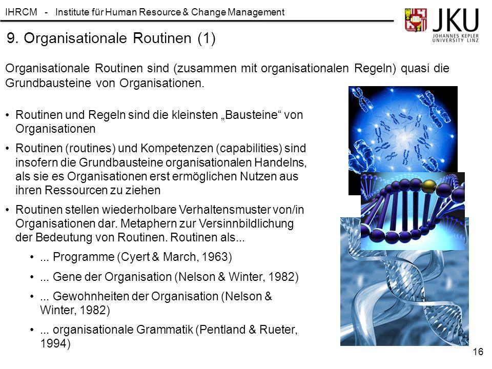9. Organisationale Routinen (1)
