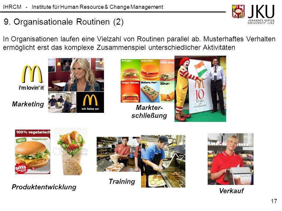 9. Organisationale Routinen (2)