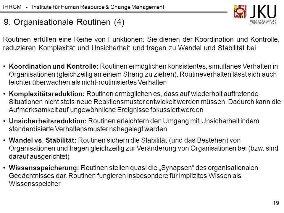 9. Organisationale Routinen (4)