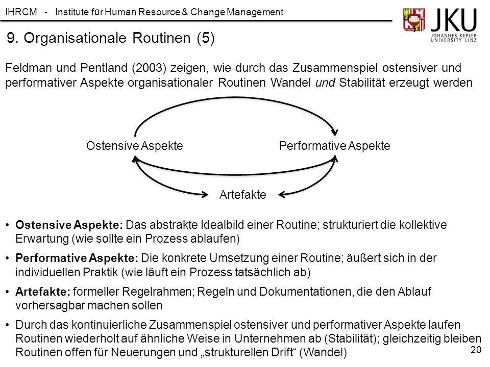 9. Organisationale Routinen (5)