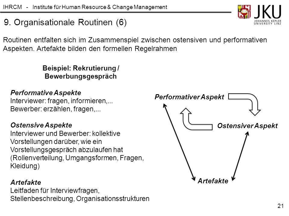 Beispiel: Rekrutierung / Bewerbungsgespräch