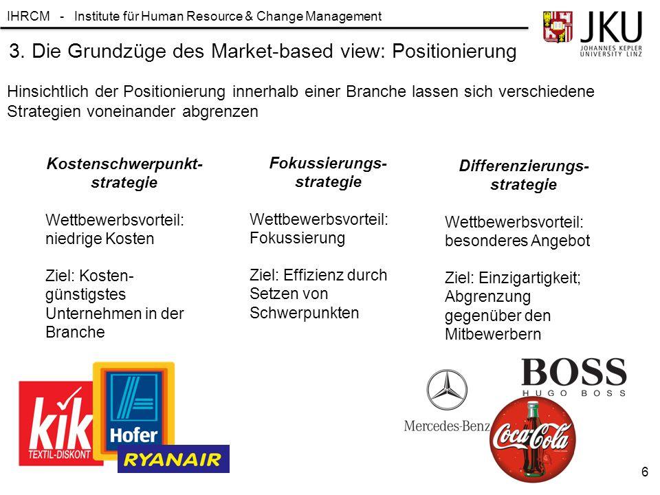 3. Die Grundzüge des Market-based view: Positionierung