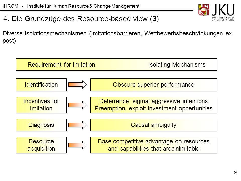 4. Die Grundzüge des Resource-based view (3)