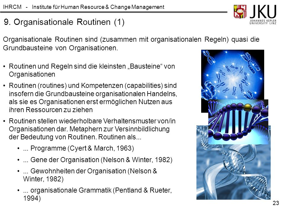9. Organisationale Routinen (1)