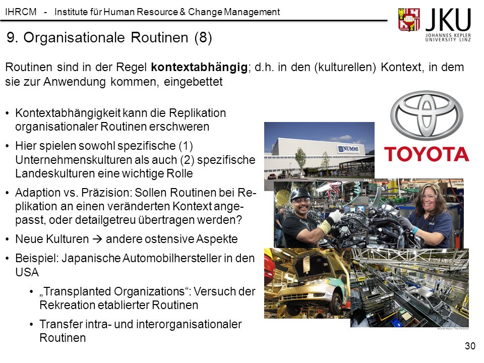 9. Organisationale Routinen (8)