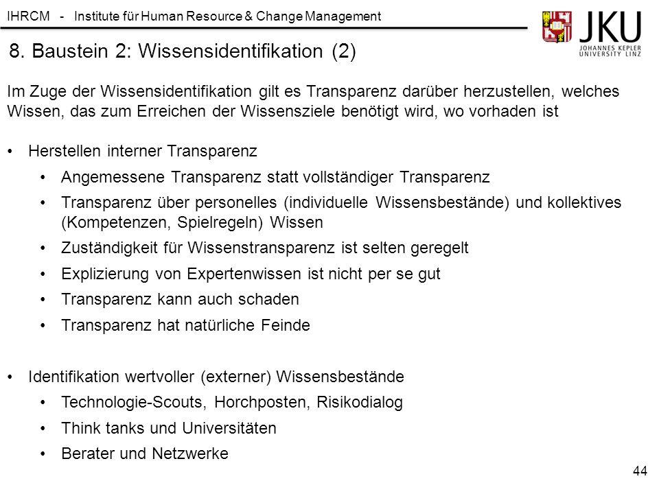 8. Baustein 2: Wissensidentifikation (2)
