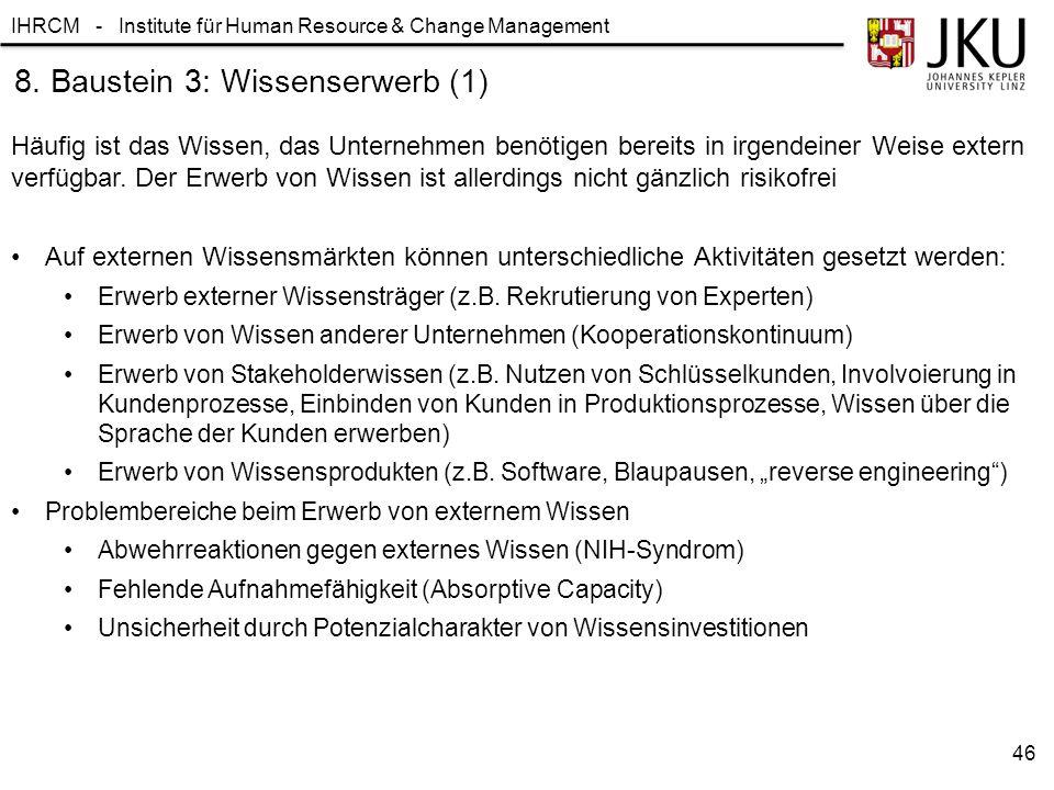 8. Baustein 3: Wissenserwerb (1)