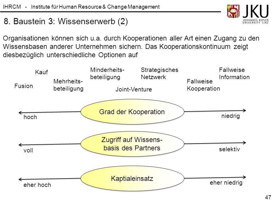 8. Baustein 3: Wissenserwerb (2)