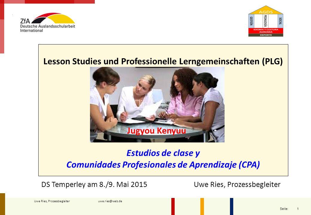 Lesson Studies und Professionelle Lerngemeinschaften (PLG)