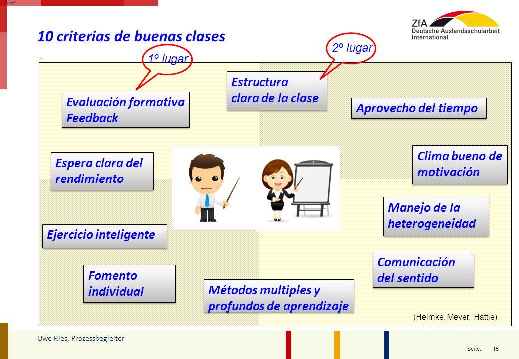 10 criterias de buenas clases