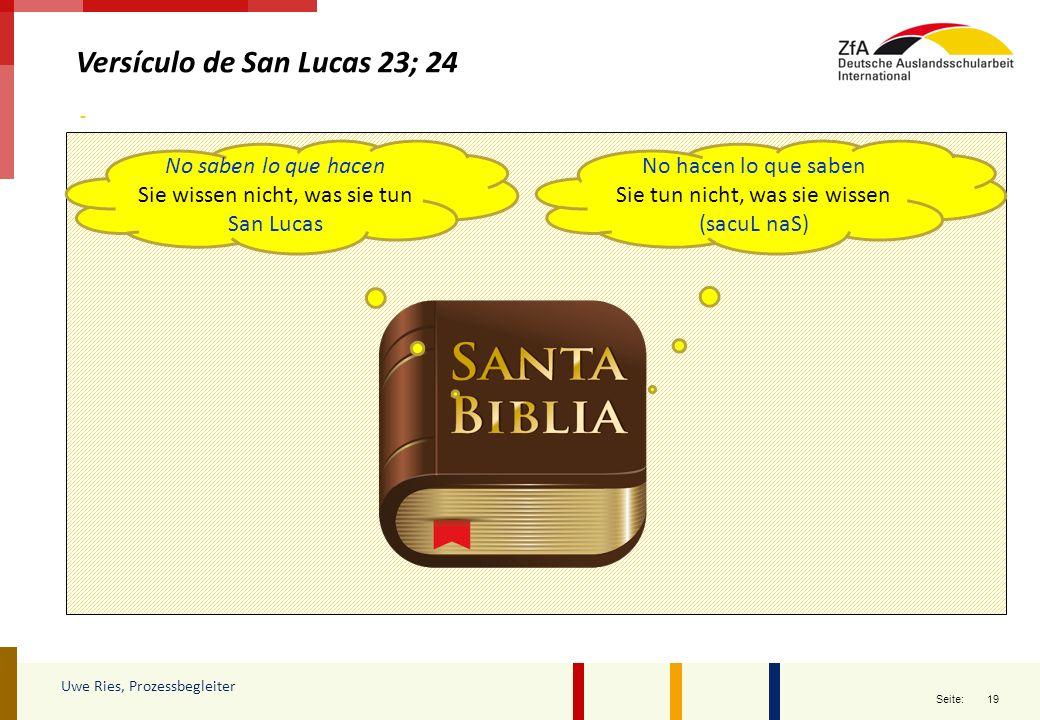 Versículo de San Lucas 23; 24