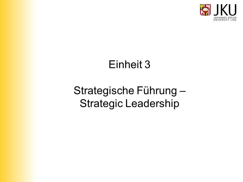Einheit 3 Strategische Führung – Strategic Leadership