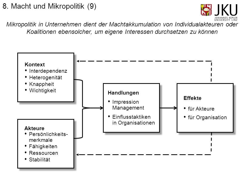 8. Macht und Mikropolitik (9)