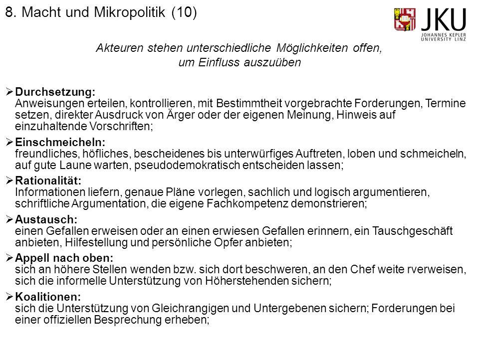 8. Macht und Mikropolitik (10)