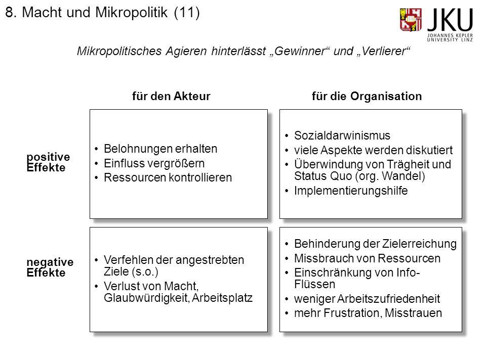 8. Macht und Mikropolitik (11)