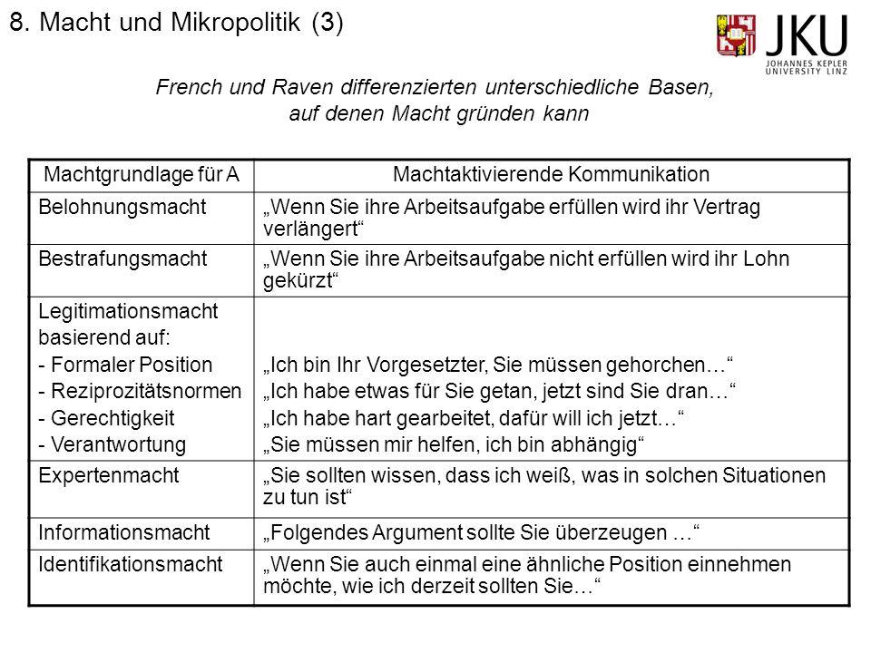 8. Macht und Mikropolitik (3)