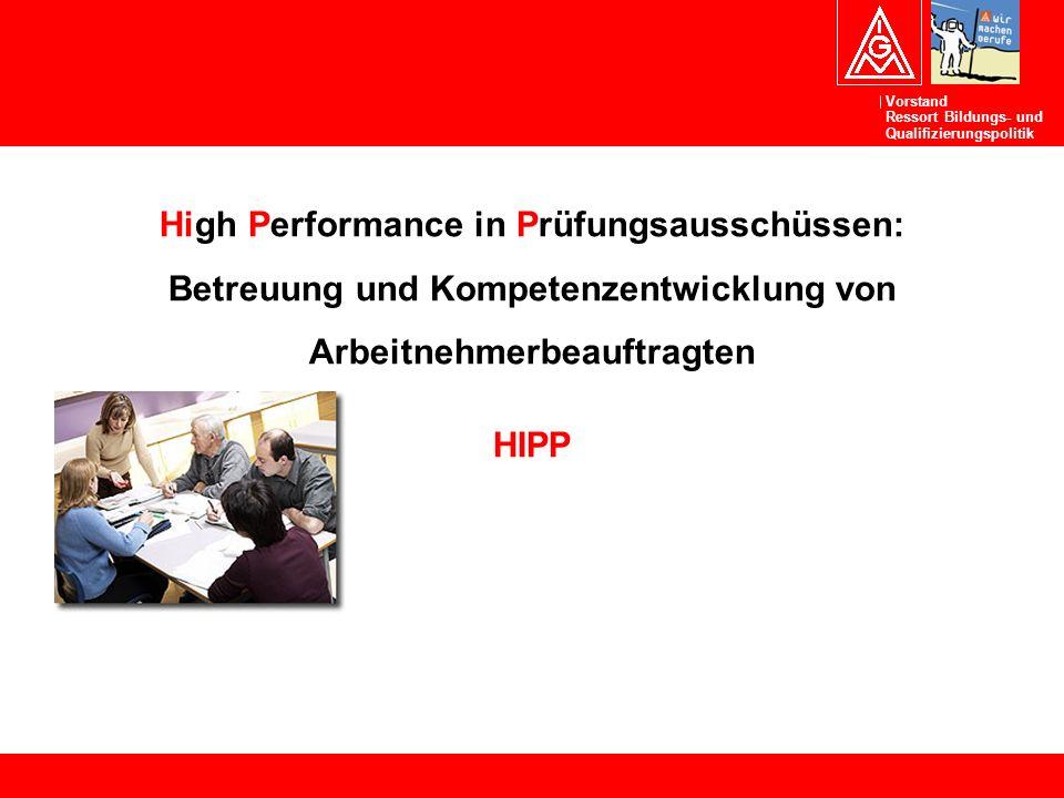 High Performance in Prüfungsausschüssen: