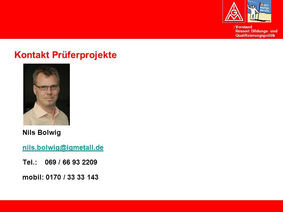 Kontakt Prüferprojekte