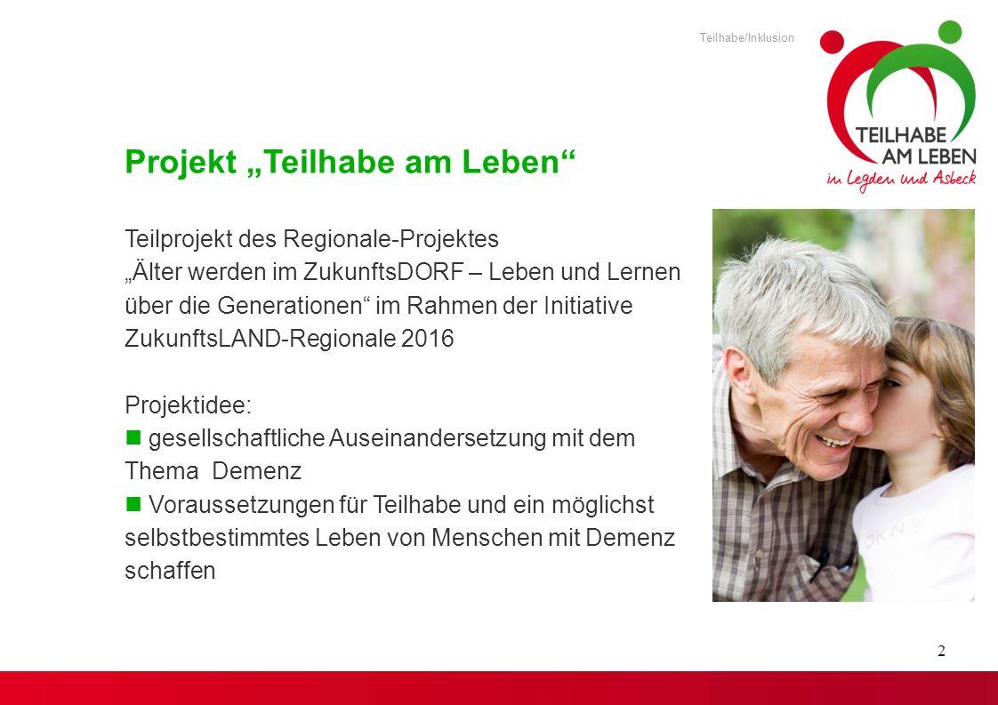 "Projekt ""Teilhabe am Leben"