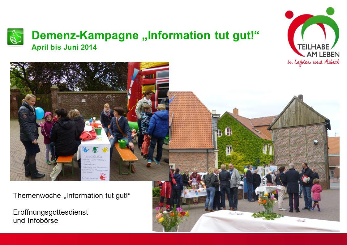 """Demenz-Kampagne """"Information tut gut!"""