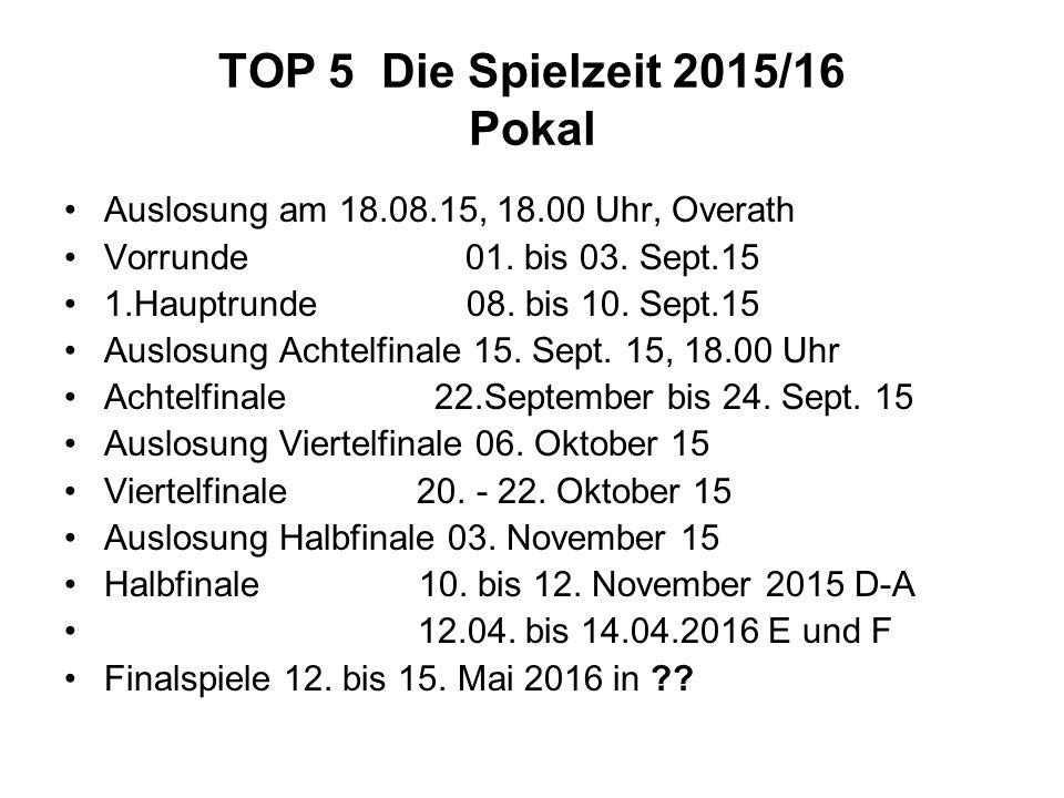 TOP 5 Die Spielzeit 2015/16 Pokal