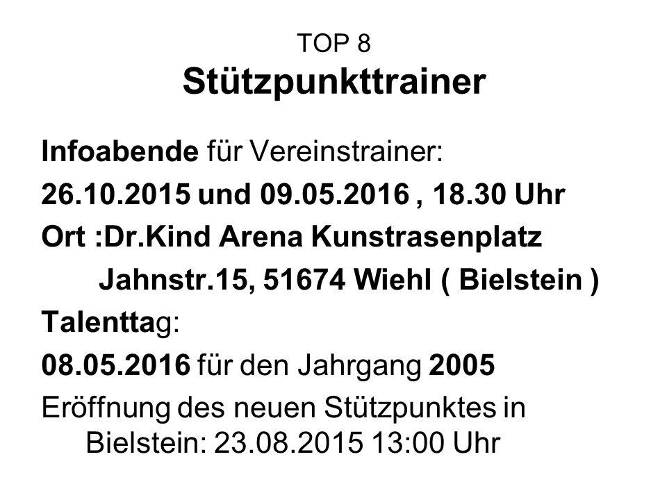 TOP 8 Stützpunkttrainer