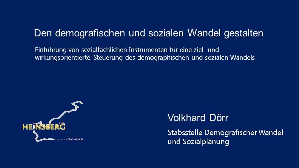 Den demografischen und sozialen Wandel gestalten