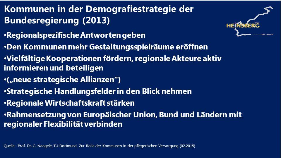 Kommunen in der Demografiestrategie der Bundesregierung (2013)
