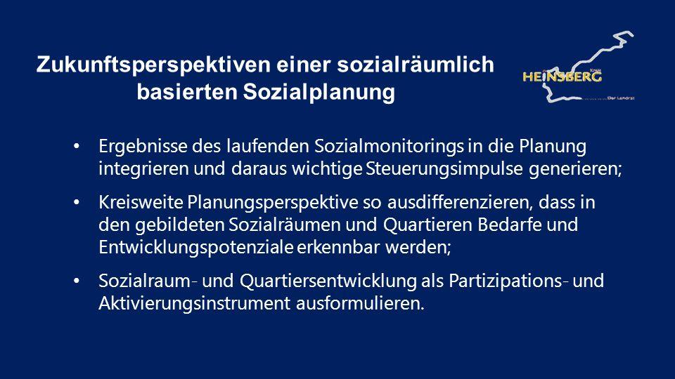 Zukunftsperspektiven einer sozialräumlich basierten Sozialplanung