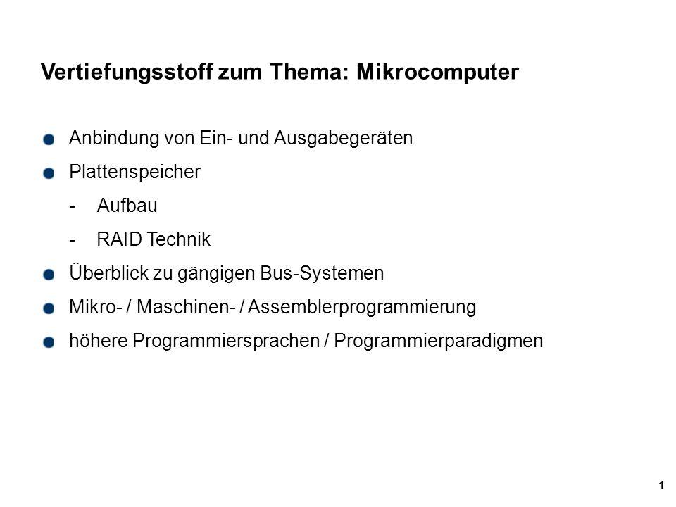 Vertiefungsstoff zum Thema: Mikrocomputer