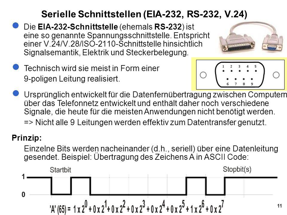 Serielle Schnittstellen (EIA-232, RS-232, V.24)