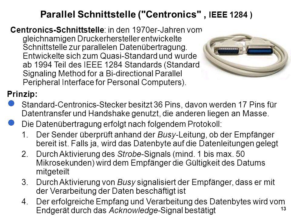 Parallel Schnittstelle ( Centronics , IEEE 1284 )