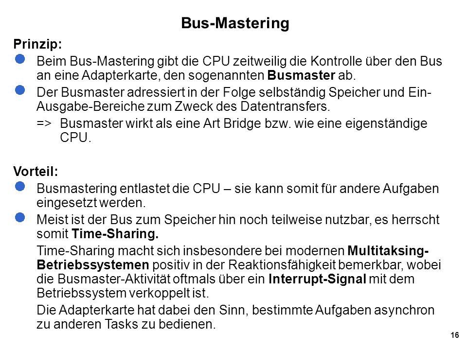 Bus-Mastering Prinzip: